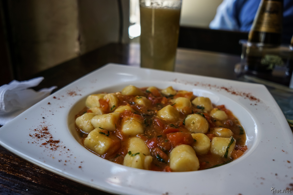 Food--Gnocchi Lunch