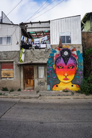 Valparaiso Street Art Magic Lady Alemania - General Mackena / Ori,  Valparaíso,  Región de Valparaíso,  Chile, South America