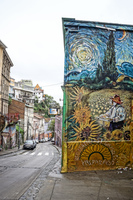 Bed and breakfast mural of Valparaiso Valparaíso,  Región de Valparaíso,  Chile, South America