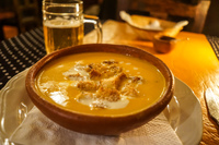 food--creamy soup at Vjracocha restaurant Salta, Cachi,  Salta,  Argentina, South America