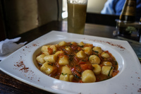 Food--Gnocchi Lunch Valparaíso,  Región de Valparaíso,  Chile, South America
