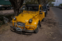 Old Yellow Car in Maipu Maipu, Mendoza, Argentina, South America