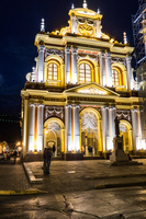 San Francisco church at night Salta,  Salta,  Argentina, South America