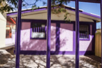 Purple House in Pica Pica,  Región de Tarapacá,  Chile, South America