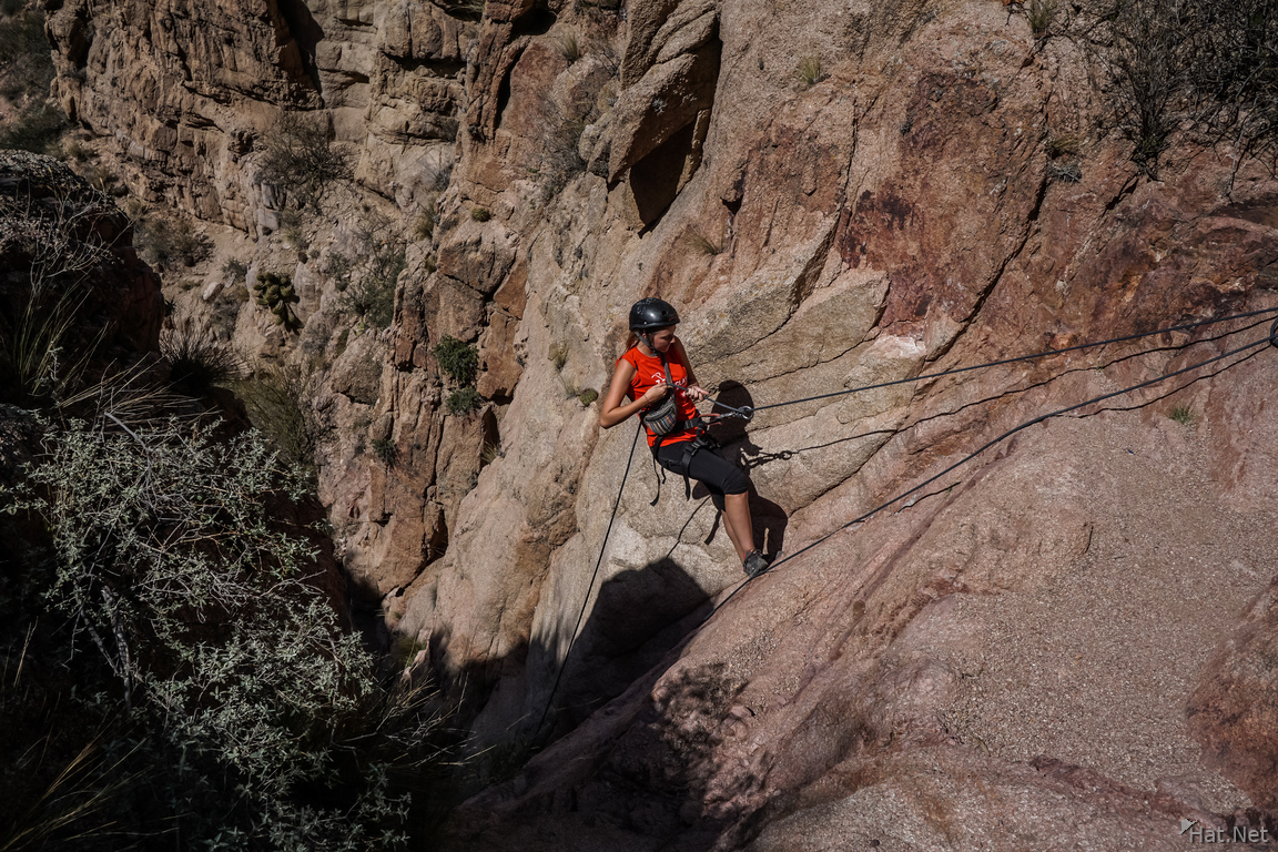 Rappel on Virgin Mary Hill