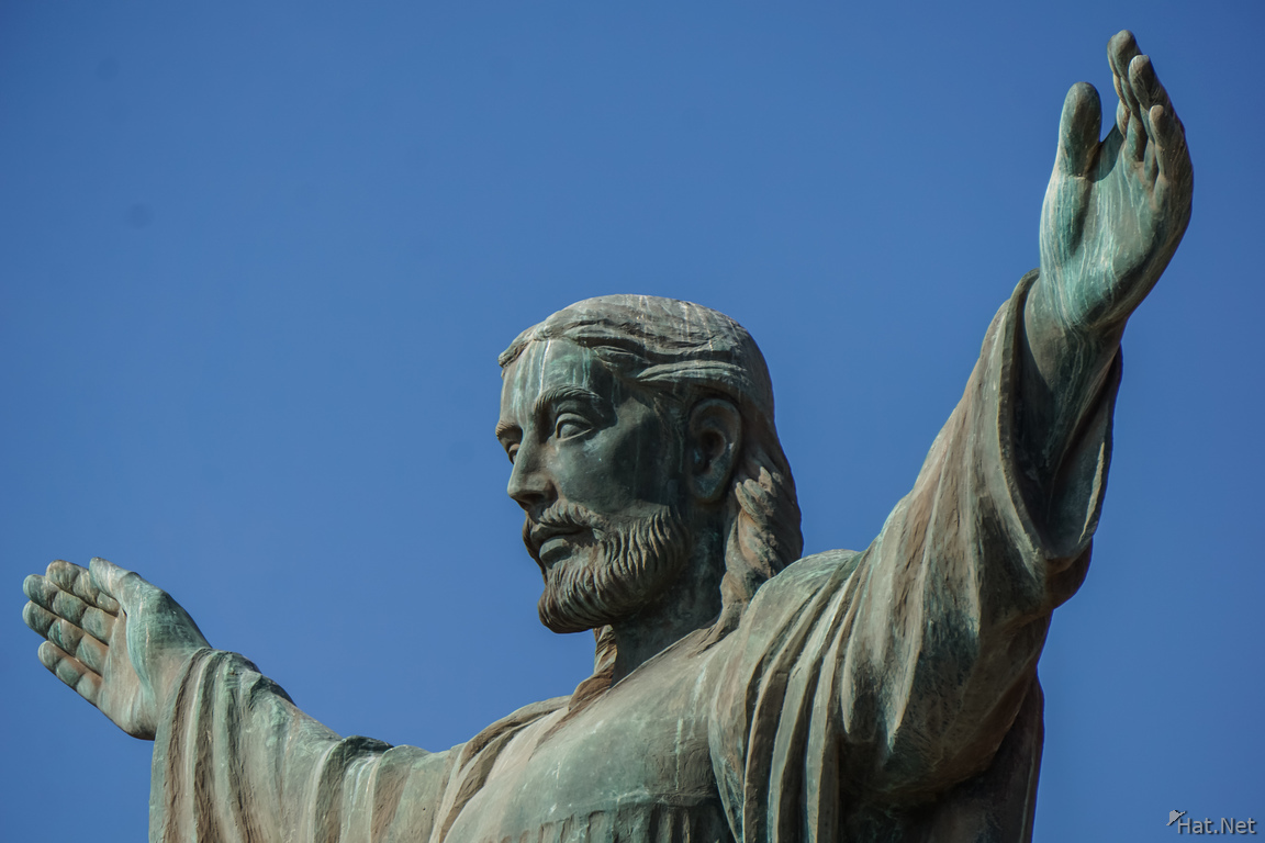 Christ and blue sky