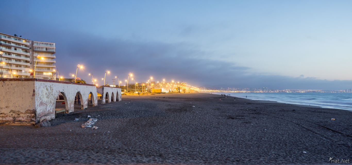 La serena beach after sunset