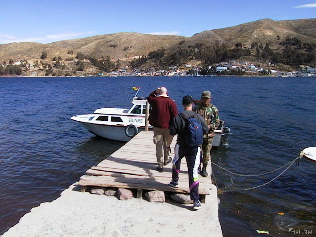 take the little ferry across lake titicaca