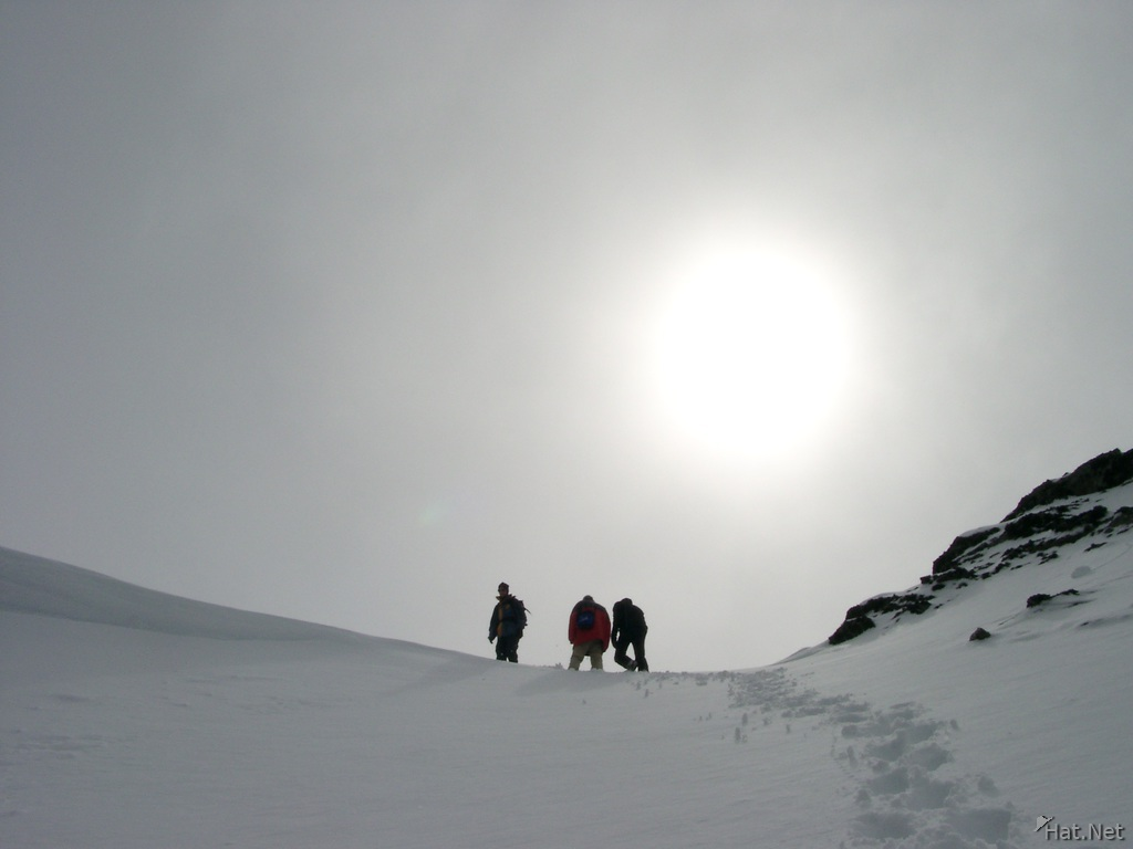 on the summit of glacier