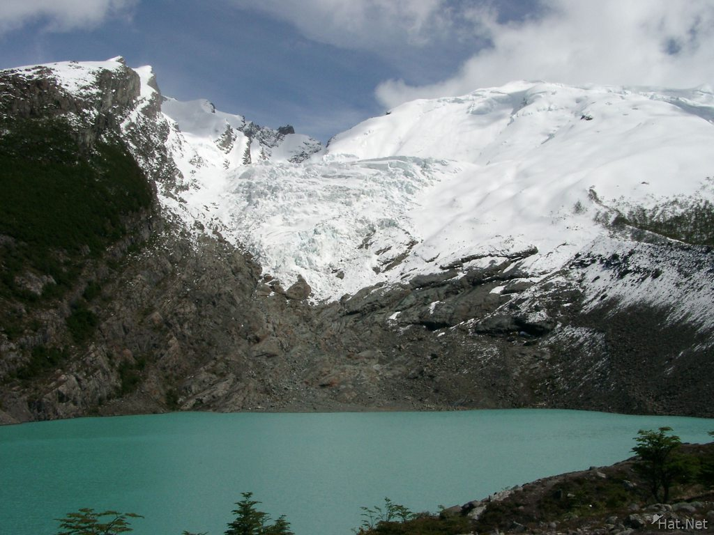 glacier and glacier lake