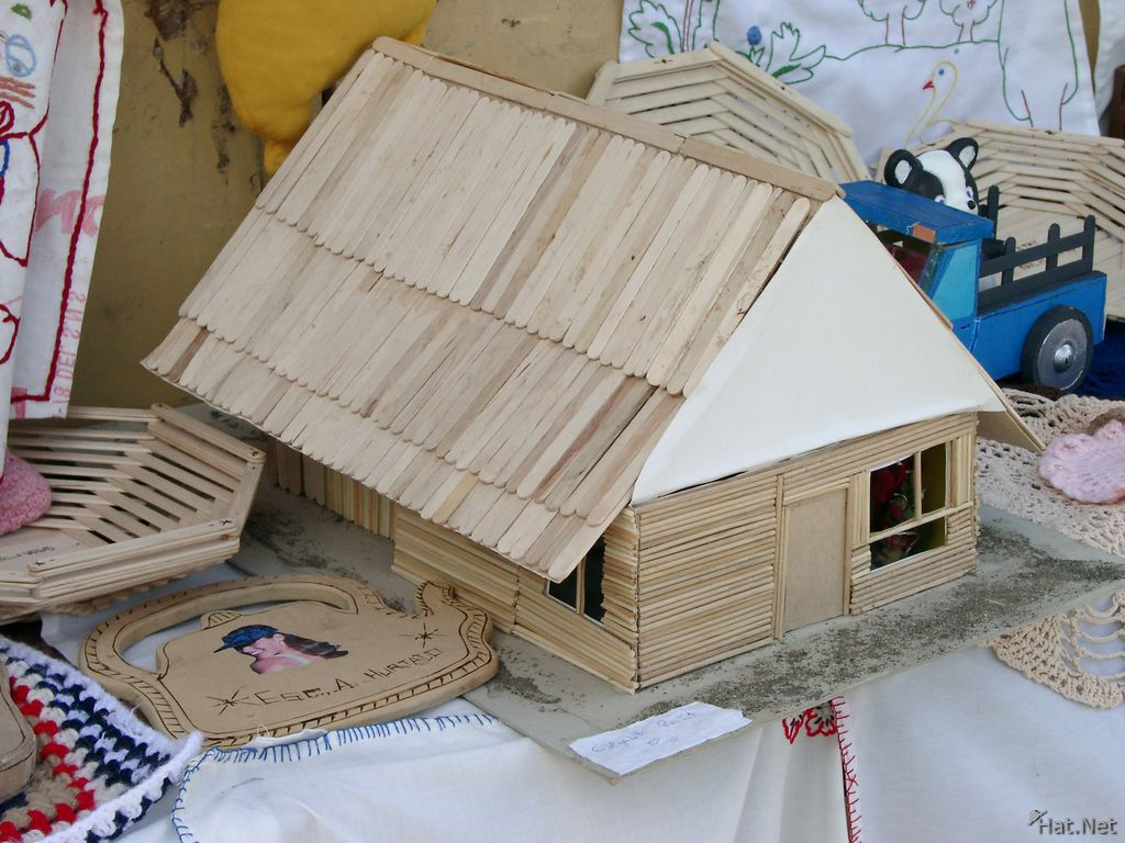 student built wooden house