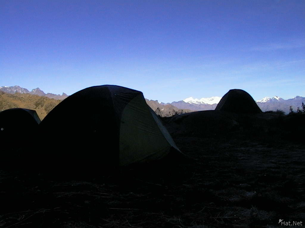 our camp at chaquicocha