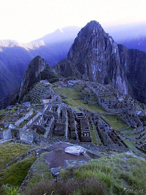 the first light on machu picchu