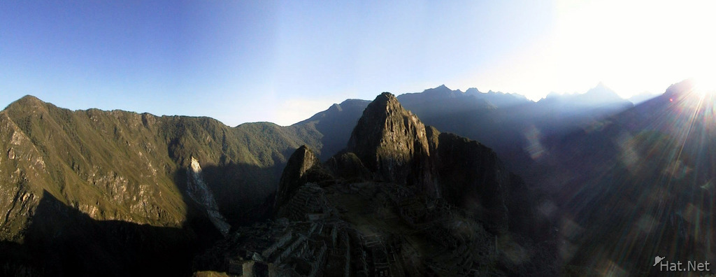 the first sunlight on huayana picchu